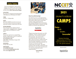 Innovation Camps 2021 Flyer